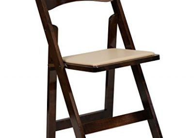 Fruitwood Padded Folding Chairs